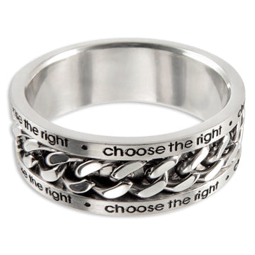 CTR Chain Spinner Ring  - Stainless Steel