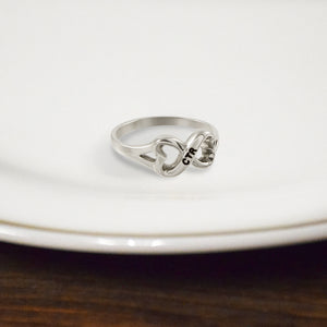 CTR Designer Heart to Heart Ring - Stainless Steel