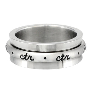 CTR Cursive Spinner - Stainless Steel