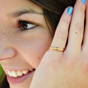 CTR Micro Mini Designer Rose Gold Ring - Stainless Steel