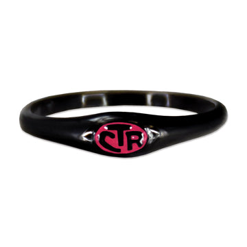 CTR Micro Mini Pink Black Ring - Stainless Steel