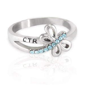 CTR Designer Dragonfly Ring - Stainless Steel