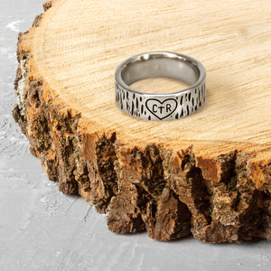 CTR Carved Ring - Stainless Steel