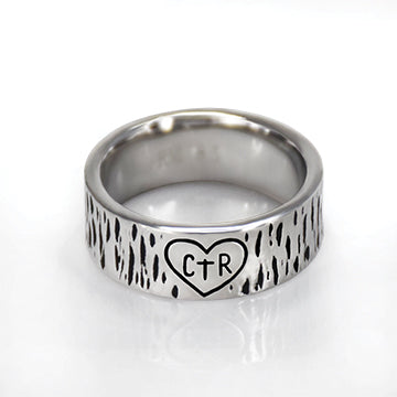 CTR Designer Carved Ring - Stainless Steel