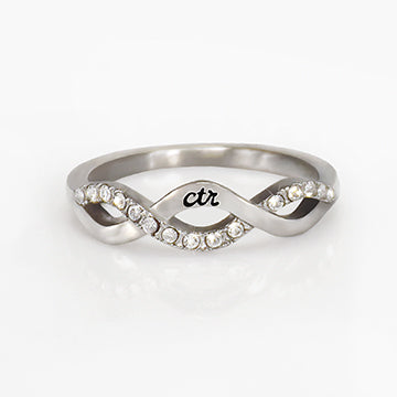 CTR Designer Crossover Ring - Stainless Steel