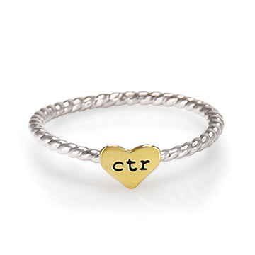CTR Designer Heart Strings Ring - Stainless Steel