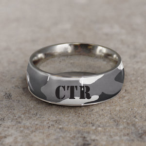 CTR Men's Designer Camo Ring - Stainless Steel