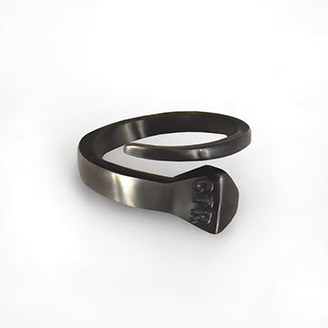Prairie Diamond CTR Horseshoe Nail Ring - Stainless Steel