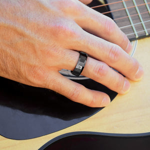 CTR Men's Designer Obsidian Ring - Tungsten Carbide
