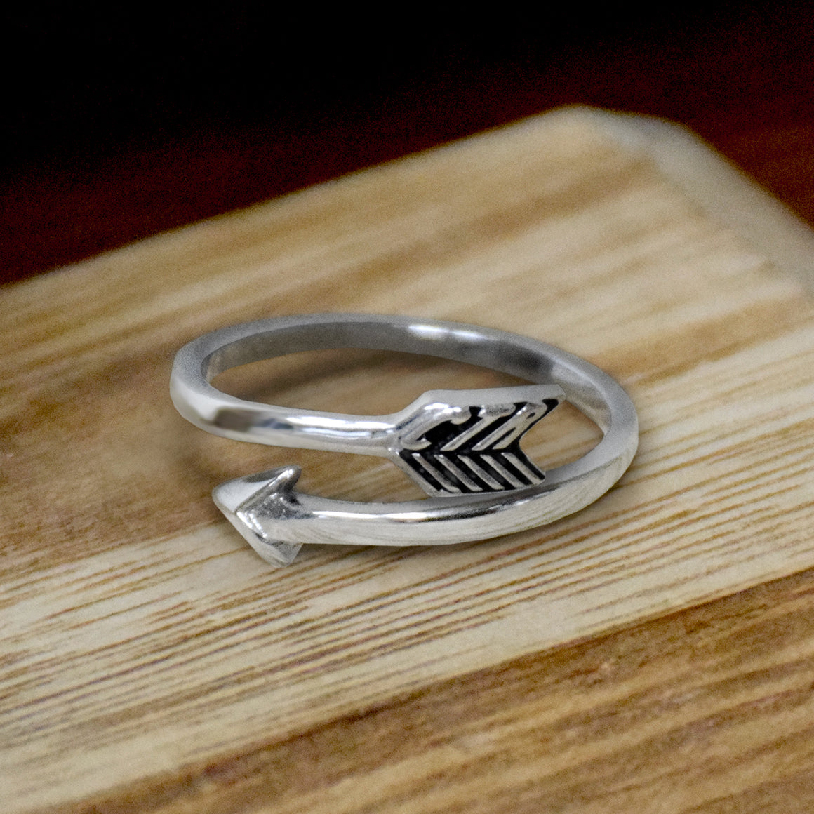 CTR Designer Arrow Ring - Stainless Steel