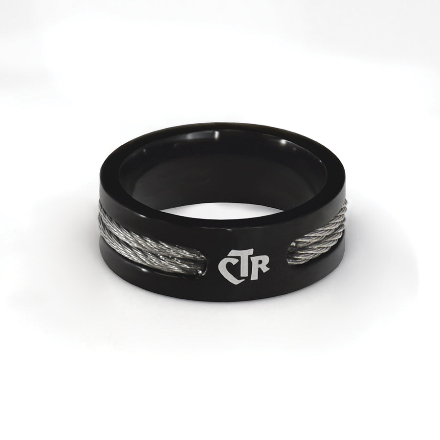CTR Men's Designer Wired Ring - Stainless Steel