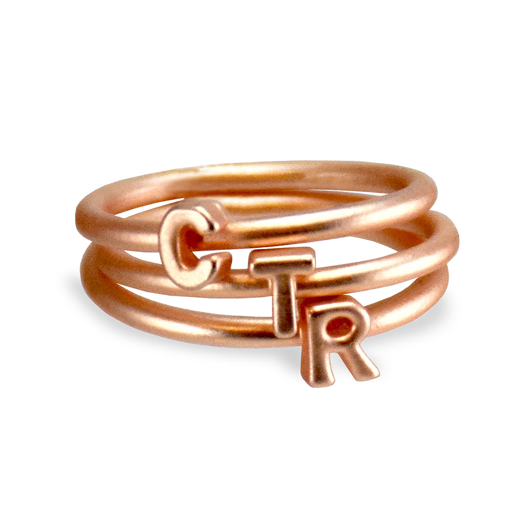 CTR Stackable Letters Ring
