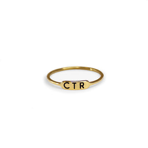 Bracket Gold Ring - Stainless Steel