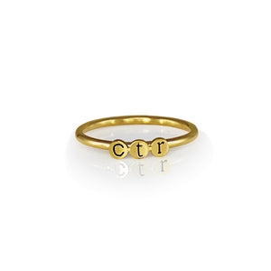Dainty Gold Ring - Stainless Steel