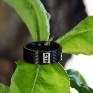 Racing Stripe CTR Ring - Stainless Steel