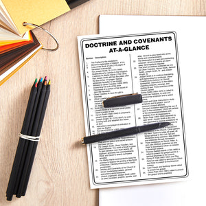 Doctrine and Covenants D&C At A Glance Chart