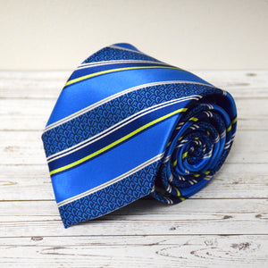 CTR Royal Blue Stripe Microfiber Necktie