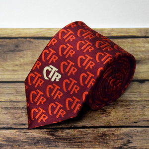 CTR Red Club Microfiber Necktie