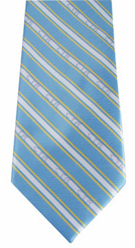 CTR Blue and Yellow Boys' Microfiber Tie