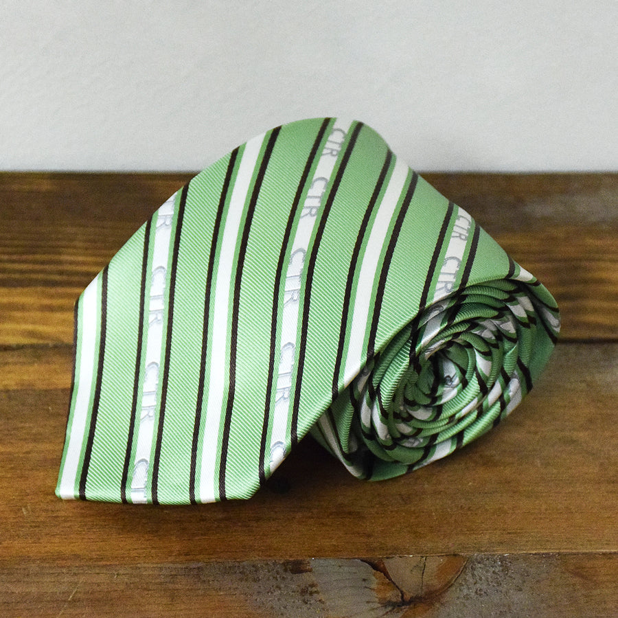 CTR Green and Brown Stripe Microfiber Necktie