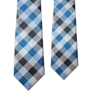 Father and Son Blue/Black Matching Tie