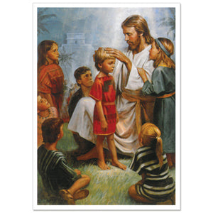 "Christ Blesses The Children Print - 3x4"" 50 pack"