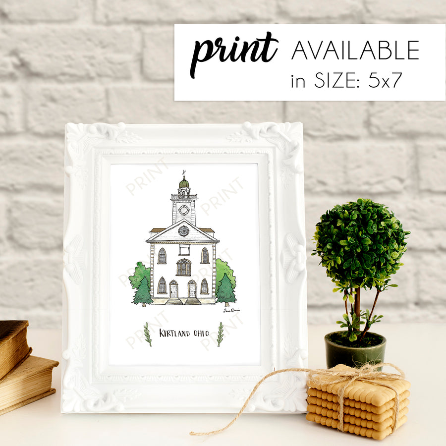 Kirtland Ohio Illustration Print - by Laura Davies