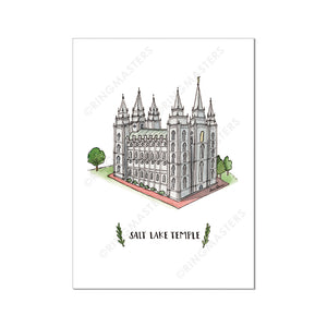 Temple Prints Illustrations (Click to Select Temples)