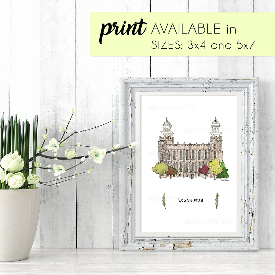 Logan Utah Illustration Print - by Laura Davies