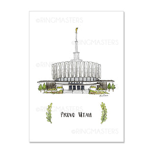 "5x7"" Temple Prints Illustrations (Click to Select Temples)"