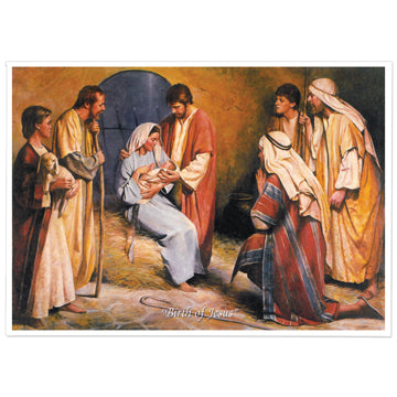 Christ Birth Print - 5x7 (single print)