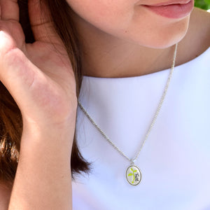 Faith In God Oval Necklace