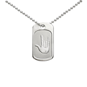 I Love You American Sign Language Dogtag