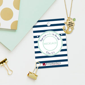 Hope is an Anchor of the Soul - Gold Finish Anchor Charm Necklace