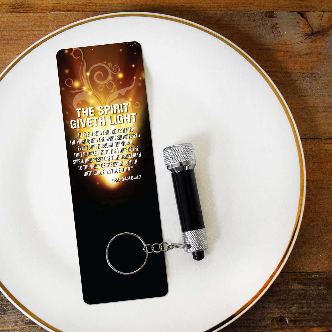 Spirit Giveth Light - Flashlight & Bookmark Set