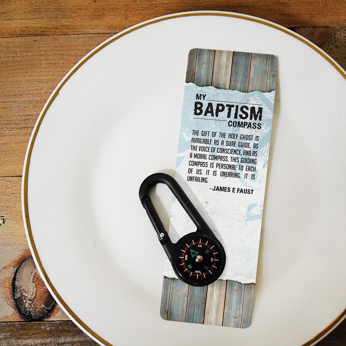 My Baptism Compass - Compass and Bookmark Set