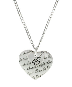 Double Heart Necklace - LET ALL THAT YOU DO, BE DONE IN LOVE. 1 CORINTHIANS 16:14