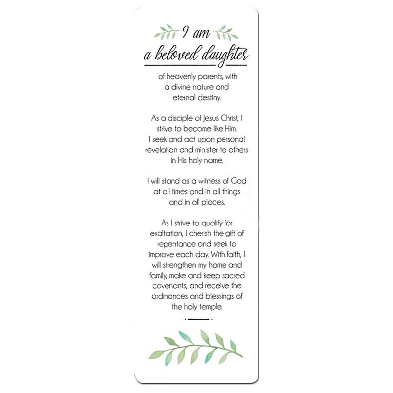 Young Women Theme Bookmark