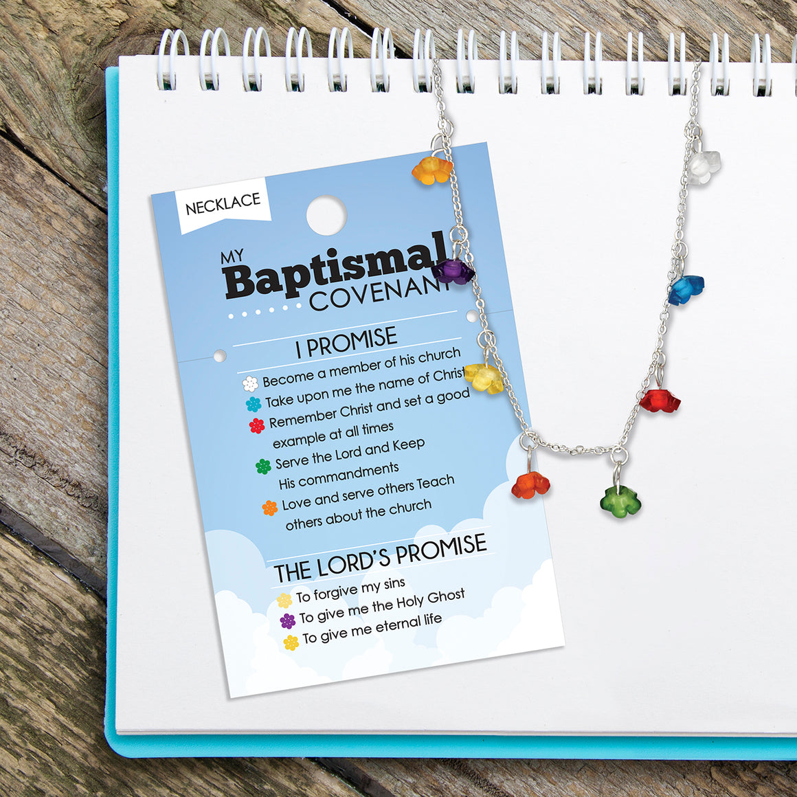 Baptism Covenants Blossoms Necklace or Bracelet