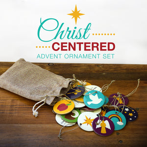 Christ Centered Advent Calendar Ornament Set