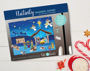 Nativity Magnetic Advent Calendar with a daily family activity booklet