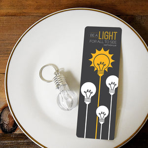 Be A light for all to see - Lightbulb Key Chain and Bookmark Set