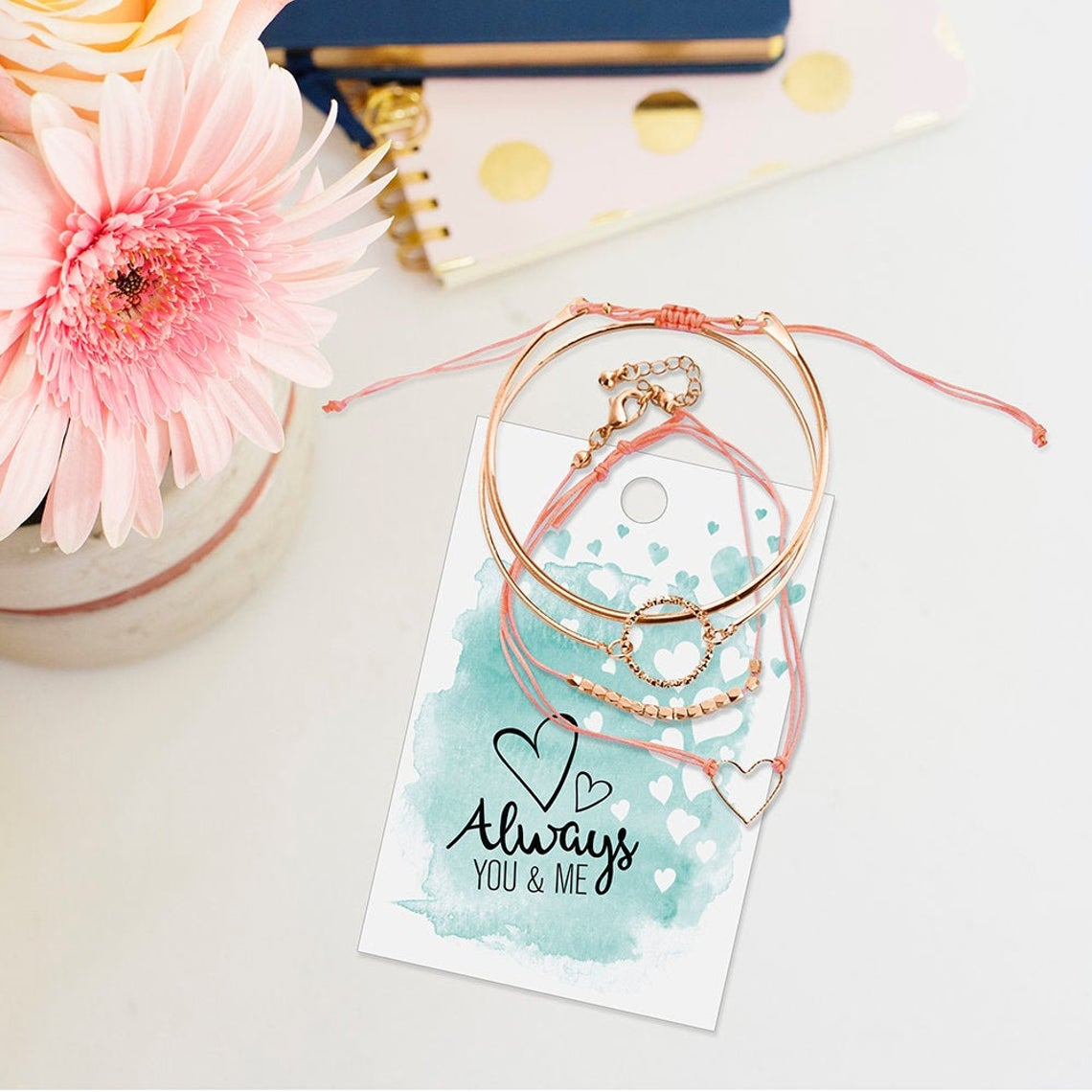 Always you & Me Bracelet Set
