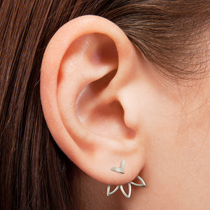 Never Give Up Ear Jacket Earrings