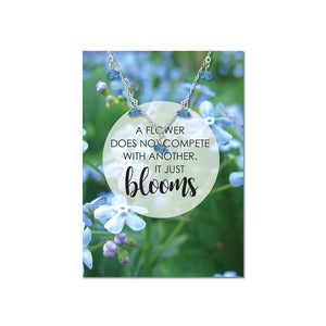 Just Bloom Forget Me Not Flower Necklace