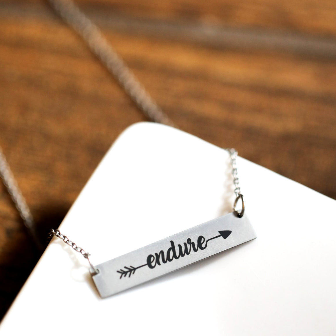 Endure To The End - Endure Bar Necklace