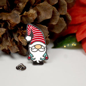 Christmas Gnome Enamel Pin