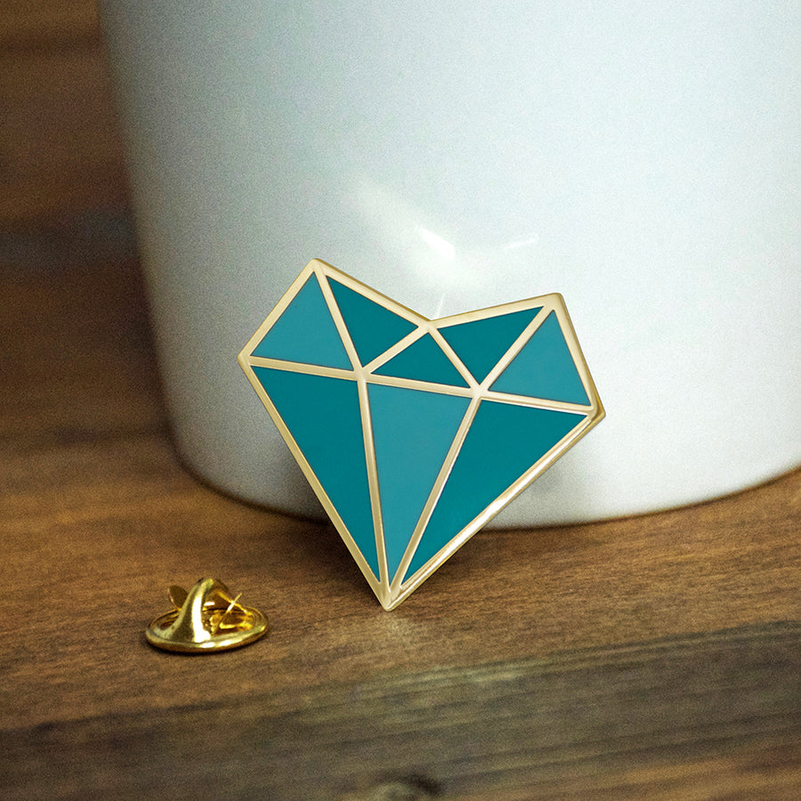 Self Love Diamond Heart Enamel Pin