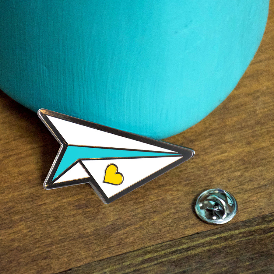 Paper Airplane Enamel Pin