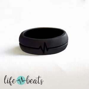 Fearless heart beat Silicone Ring